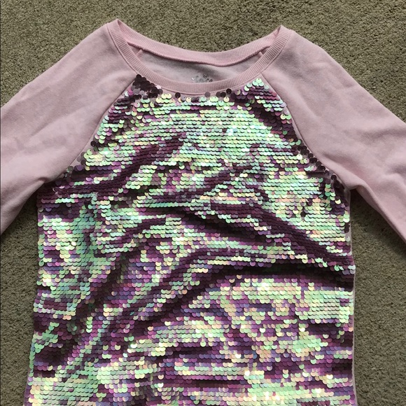 20eb14f1a5a Justice Other - Girls Justice Pink Flip Sequin Sweater NWOT